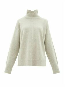 Joseph - Roll-neck Oversized Wool Sweater - Womens - Light Grey