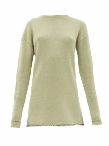Joseph - Contrasting-hem Cashmere Sweater - Womens - Light Green