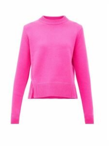 Tibi - Slit-hem Cashmere Sweater - Womens - Fuchsia