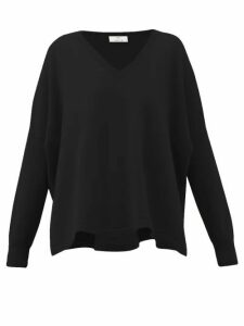 Allude - V-neck Cashmere Sweater - Womens - Black