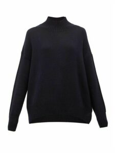 Allude - High-neck Cashmere Sweater - Womens - Navy