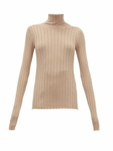 Petar Petrov - Karen High-neck Ribbed Merino-wool Sweater - Womens - Tan