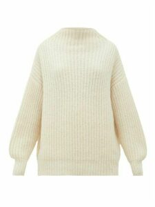 Lauren Manoogian - Fisherwoman Mock-neck Alpaca-blend Sweater - Womens - White