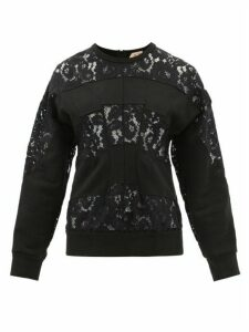 No. 21 - Floral Lace And Cotton-jersey Sweatshirt - Womens - Black