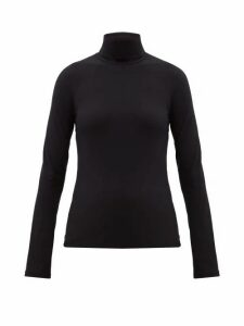 Jil Sander - Roll-neck Stretch-jersey Top - Womens - Black