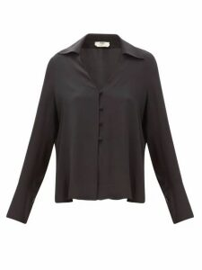 Fendi - High-neck Poplin Blouse - Womens - Black