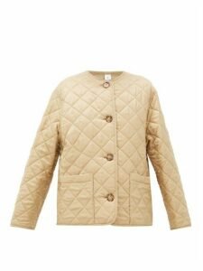 Burberry - Bardsey Quilted Logo-jacquard Twill Jacket - Womens - Beige