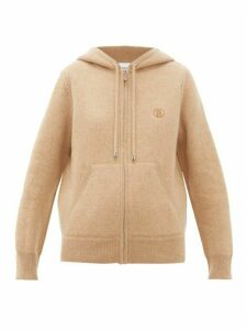 Burberry - Ergun Zip-through Cashmere-blend Hooded Sweater - Womens - Camel