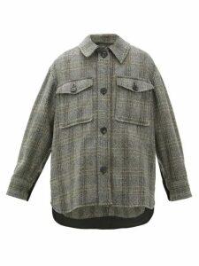 Isabel Marant Étoile - Garvey Checked Wool Jacket - Womens - Beige
