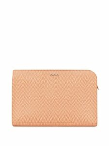 Zanellato textured clutch bag - ORANGE