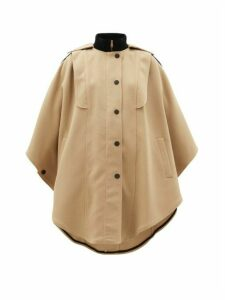 See By Chloé - Ribbed-collar Cotton-blend Cape Coat - Womens - Beige