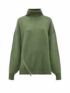 Tibi - Side-zip Cashmere Sweater - Womens - Green
