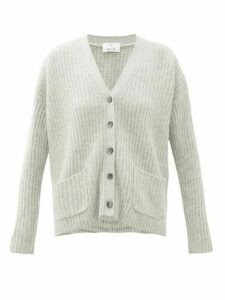 Allude - Ribbed Cashmere Cardigan - Womens - Light Grey