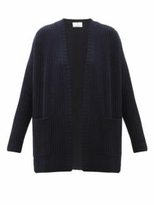 Allude - Ribbed-knit Cashmere Cardigan - Womens - Navy