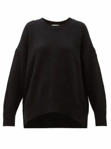 Allude - Round Neck Cashmere Sweater - Womens - Black