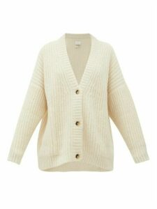 Lauren Manoogian - Fisherman Chunky-knit Alpaca-blend Cardigan - Womens - White