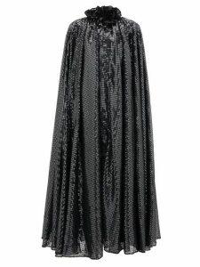 Halpern - Ruffled-neck Sequin-embellished Cape - Womens - Grey