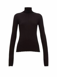 Petar Petrov - Karen High-neck Ribbed Merino-wool Sweater - Womens - Black