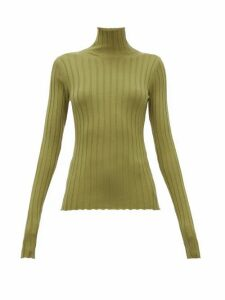Petar Petrov - Karen Merino Wool High-neck Sweater - Womens - Green