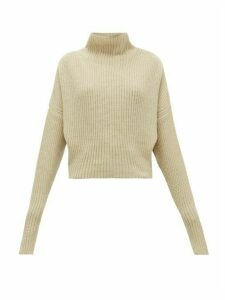 Petar Petrov - Kate Funnel-neck Ribbed Cashmere Sweater - Womens - Cream