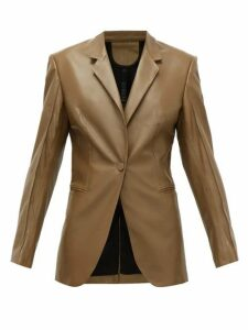 Petar Petrov - Justus Single-breasted Leather Jacket - Womens - Brown