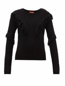 Altuzarra - Buckeye Fringe-trim Sweater - Womens - Black