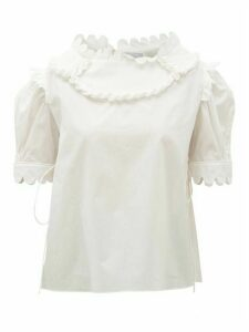 Horror Vacui - Mary Scalloped Cotton Blouse - Womens - White