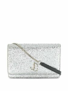 Jimmy Choo Palace glitter crossbody bag - SILVER