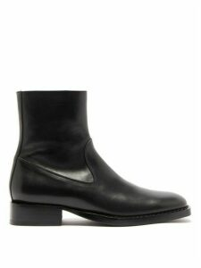 Ann Demeulemeester - Square-toe Leather Ankle Boots - Womens - Black