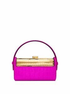 Bienen Davis Regine crocodile-effect mini bag - PINK