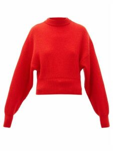 Cordova - Megève Cropped Ribbed-knit Wool Sweater - Womens - Red