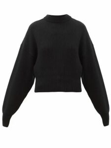 Cordova - Megève Cropped Ribbed-knit Wool Sweater - Womens - Black