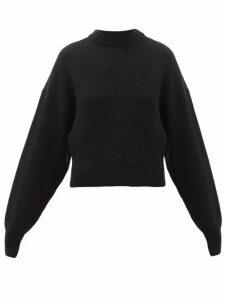 Cordova - Megève Cropped Ribbed-knit Wool Sweater - Womens - Black