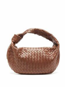 Bottega Veneta - Bv Jodie Small Intrecciato-leather Shoulder Bag - Womens - Dark Brown
