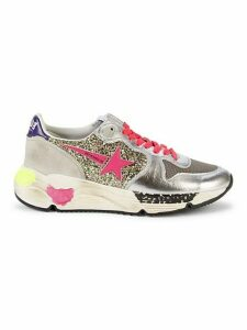 Running Sole Mixed-Media Sneakers