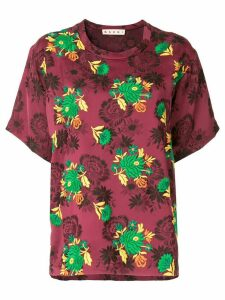 Marni contrast embroidered T-shirt
