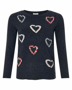 Monsoon Kylie Candy Cane Jumper
