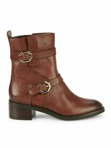 Leela Grand Leather Moto Booties