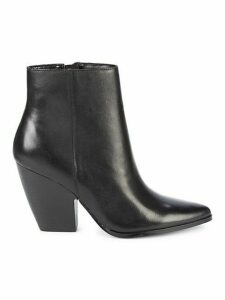 Niche Stack-Heel Leather Booties