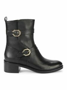 Leela Grand Moto Leather Booties