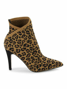 Margerie Leopard-Print Booties
