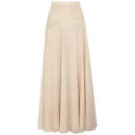 Boutique Moschino Blush Printed Chiffon Maxi Skirt