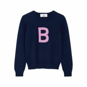 HADES Alphabet B Navy Wool Jumper