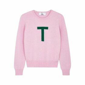 Hades Alphabet T Pink Wool Jumper