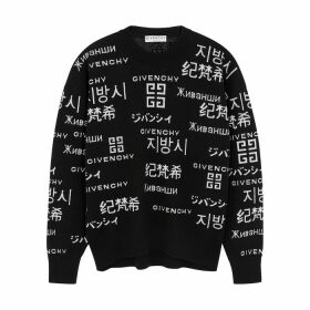 Givenchy Black Logo-intarsia Wool-blend Jumper