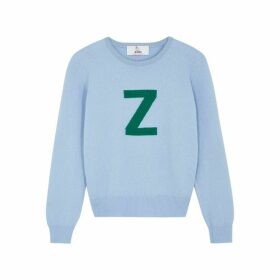 HADES Alphabet Z Light Blue Wool Jumper