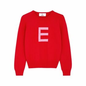 HADES Alphabet E Red Wool Jumper