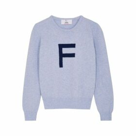 HADES Alphabet F Light Blue Wool Jumper