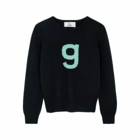 Hades Alphabet G Navy Wool Jumper