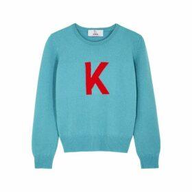 Hades Alphabet K Blue Wool Jumper